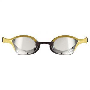 Gold Silver Arena Cobra Ultra Swipe Goggles
