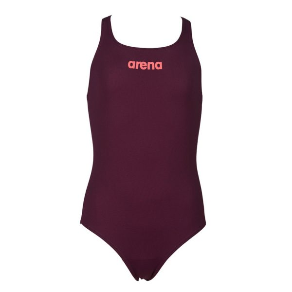 Arena Solid Pro Girls Red Wine Swimsuit