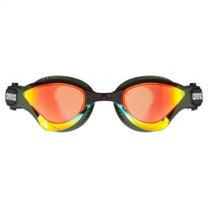 Arena Cobra Tri Swipe Mirror Goggles - Yellow Army
