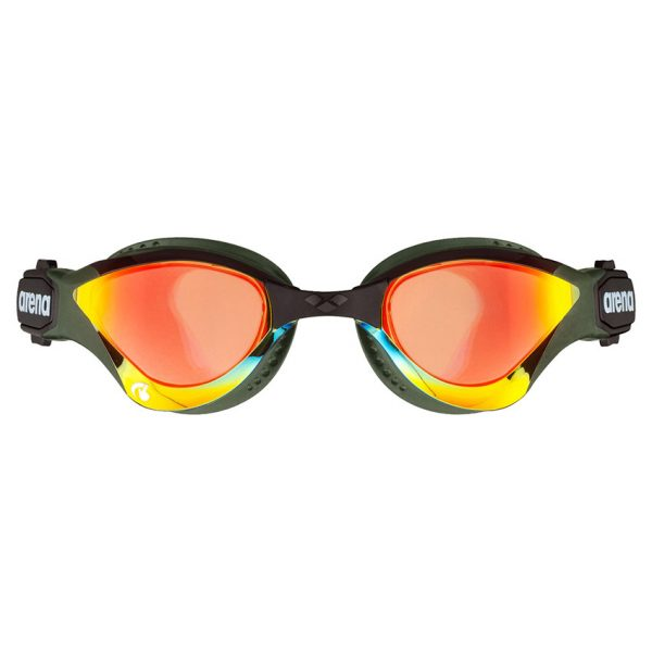 Arena Cobra Tri Swipe Mirror Goggles - Yellow Army