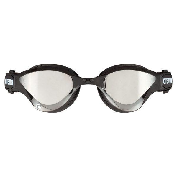 Arena Cobra Tri Swipe Mirror Goggles - Silver Black