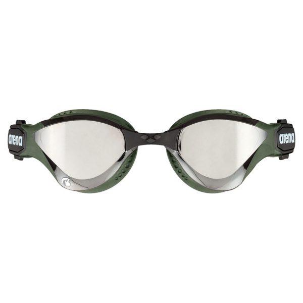 Arena Cobra Tri Swipe Mirror Goggles - Silver Army