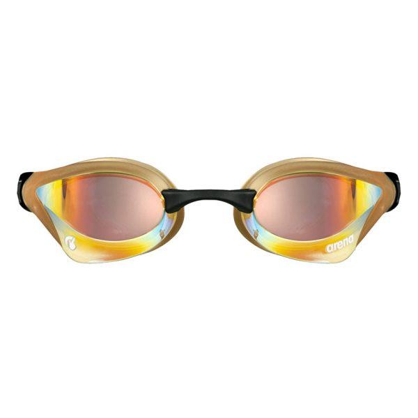 Yellow-Copper Gold Arena Cobra Core Swipe Goggles
