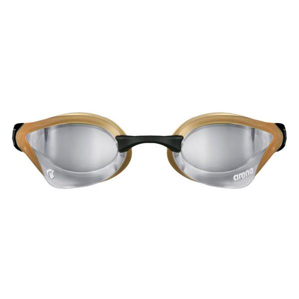 Silver Gold Arena Cobra Core Swipe Goggles