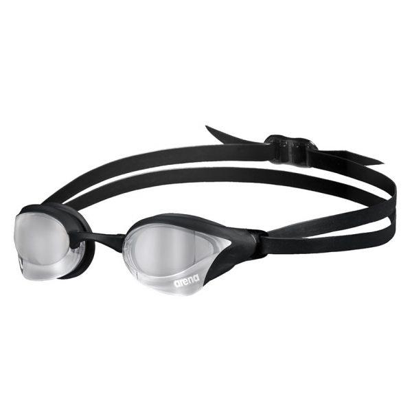Silver Black Arena Cobra Core Swipe Goggles