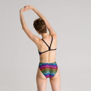 Multicolour Arena Stripes Swimsuit
