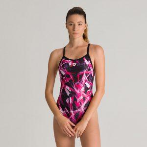 Pink Arena Night Lights Swimsuit