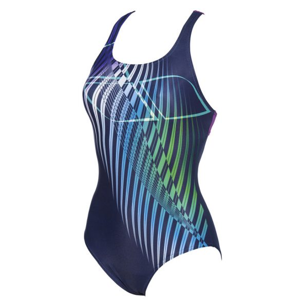 Blue Arena Optical Waves Swimsuit