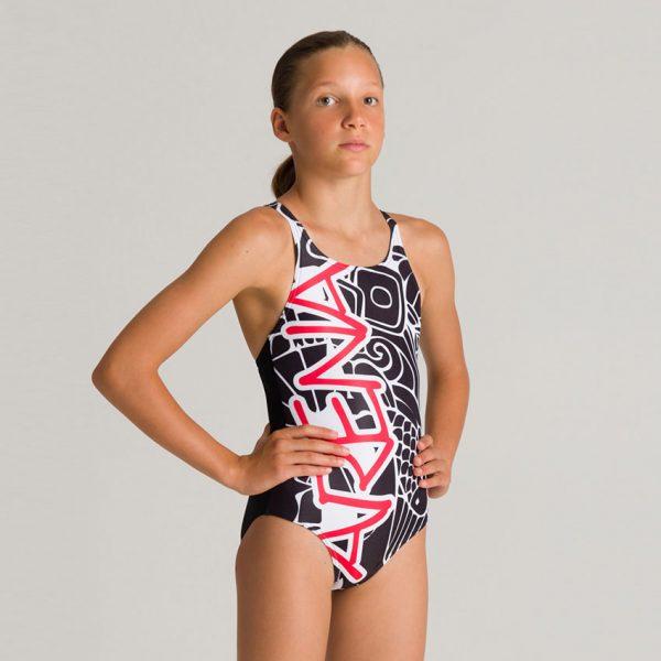 Arena Maneki Girl's Swimsuit