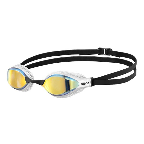 White Arena Airspeed Mirror Goggles - Yellow Copper