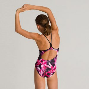 Arena Night Lights Girl's Swimsuit - Pink