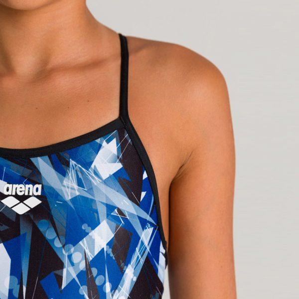 Arena Night Lights Girl's Swimsuit - Blue