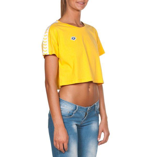 Arena Corrine Yellow Cropped T-shirt