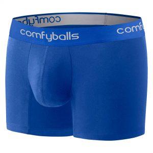 Comfyballs Blue Cotton Boxer - Long
