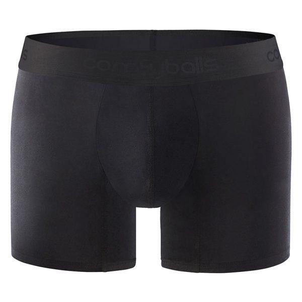 Comfyballs Black Microfibre Boxer - Long
