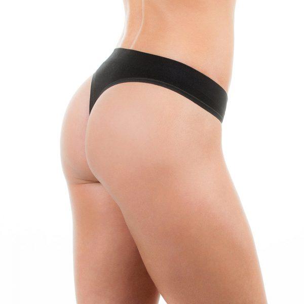Ladies Comfy Performance Seamless String - Black