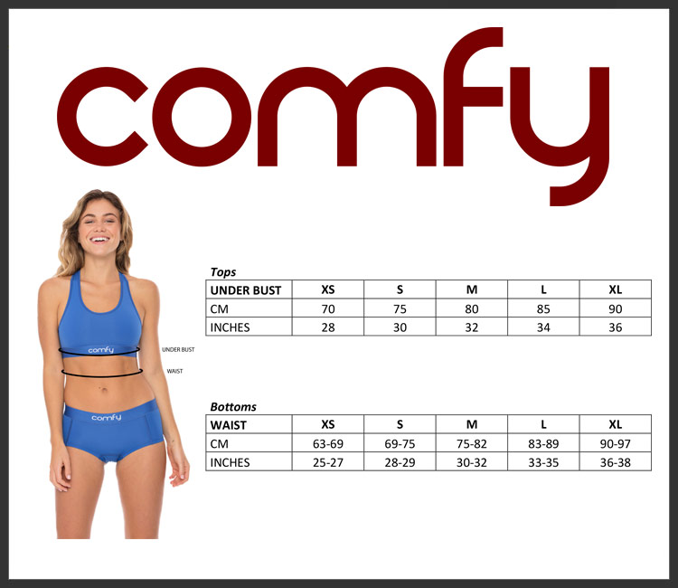 Comfyballs ladies size chart