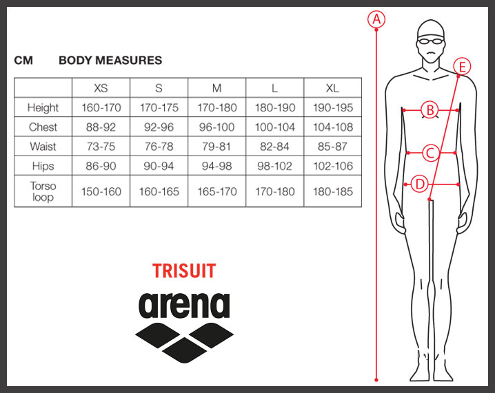 Arena Triathlon Sizing Chart